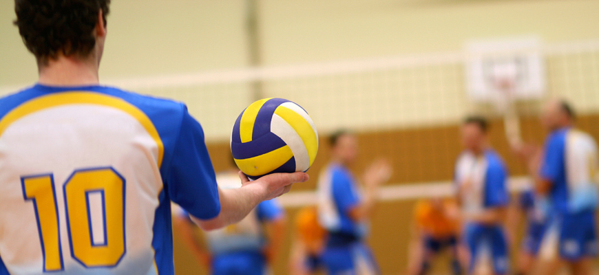 Volley ball player